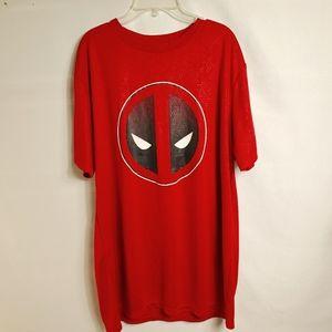 Marvel Graphic T-shirt Deadpool Logo Sz XL